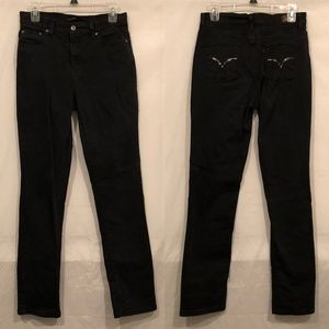Levis 512 Skinny Black Sz 10 High Waist Mom Jeans